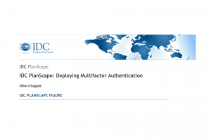 IDC PlanScape Deploying Multifactor Authentication
