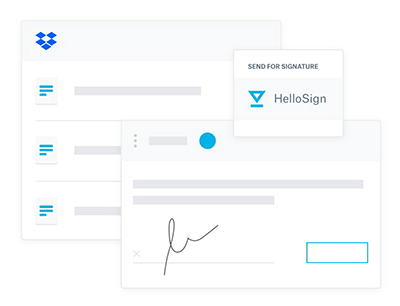 Seamless eSignature workflows with Dropbox and HelloSign