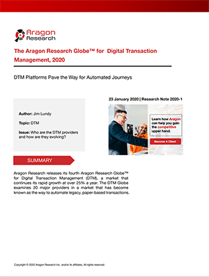 The Aragon Research Globe for Digital Transaction Management 2020