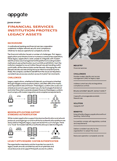 FINANCIAL SERVICES INSTITUTION PROTECTS LEGACY ASSETS